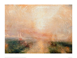 Yacht Approaching the Coast Giclee Print by J.M.W. Turner