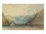 The Pfalz Near Kaub, 1817 Giclee Print by J.M.W. Turner