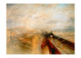 Rain Steam and Speed- The Great Western Railway, 1844 Giclee Print by J.M.W. Turner