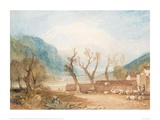Mont Blanc from the Bridge of St Martins, Sallanches, 1807 Giclee Print by J.M.W. Turner
