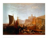 St Mawes at the Pilchard Season Giclee Print by J.M.W. Turner