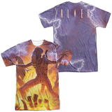 Alien - Lightning And Fire (Front/Back Print) T-shirts