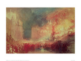 The Burning of the Houses of Parliament, 1839 Giclee Print by J.M.W. Turner