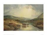 Bridge over the Usk Giclee Print by J.M.W. Turner