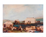 Farnley Hall, Otley, Shooting Party on the Moors Giclee Print by J.M.W. Turner