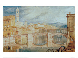 View of Florence from Ponte alla Carraia, 1817/18 Giclee Print by J.M.W. Turner