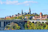 Washington Dc, a View from Georgetown and Key Bridge in Autumn Photographic Print by  Orhan