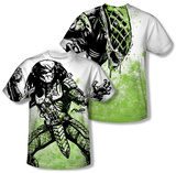 Alien vs Predator - Graphic Battle (Front/Back Print) T-shirts