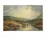 Bridge over the Usk Giclee Print by J.M.W. Turner