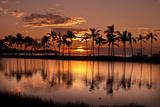 Waikoloa Sunset at Anaeho'omalu Bay Photographic Print by NT Photography