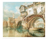 The Old Welsh Bridge in Shrewsbury, 1794 Giclee Print by J.M.W. Turner