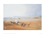 Beach Scene on the South Coast Giclee Print by J.M.W. Turner