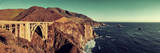 Bixby Bridge Panorama as the Famous Landmark in Big Sur California. Photographic Print by Songquan Deng