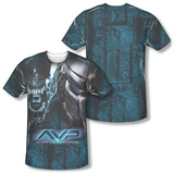 Alien vs Predator - Head To Head (Front/Back Print) T-Shirt