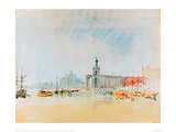 The Punta della Dogana with the Zitelle in the Distance, 1819 Giclee Print by J.M.W. Turner