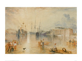 Upnor Castle on the Medway Near Chatham, 1833 Giclee Print by J.M.W. Turner