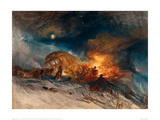Travellers in a Snow Drift on Mount Tarrar, 1829 Giclee Print by J.M.W. Turner
