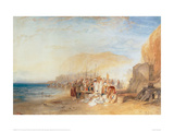 Hastings: Fish Market on the Sands, Early Morning, 1824 Giclee Print by J.M.W. Turner