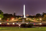 The Mall Monument Us Grant Memorial Evening Stars Washington Dc Photographic Print by  BILLPERRY