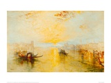 San Benedetto, View of Fusina, Italy, 1843 Giclee Print by J.M.W. Turner
