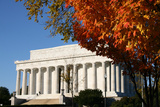 Lincoln Memorial in Autumn Prints by  fintastique