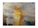 The Burning of the Houses of Lords and Commons, 1835 Giclee Print by J.M.W. Turner