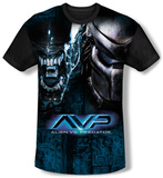 Alien vs Predator - Head To Head (black back) Shirts