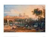 Lincoln Cathedral from the Holmes, Brayford, 1802 Giclee Print by J.M.W. Turner