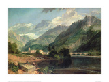 Bonneville, Savoy with Mont Blanc in the Distance Giclee Print by J.M.W. Turner