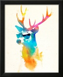 Sunny Stag Poster by Robert Farkas
