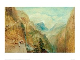 Mont Blanc from Fort Roch in the Val D'Aosta, 1804 Giclee Print by J.M.W. Turner