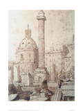 Trajan's Column in Rome, 1835 Giclee Print by J.M.W. Turner