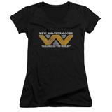 Juniors: Alien - Weyland V-Neck T-shirts