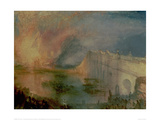The Burning of the Houses of Parliament (1) 1835 Giclee Print by J.M.W. Turner