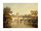 Bromfield on the River Onny, Near Ludlow, Shropshire, 1798 Giclee Print by J.M.W. Turner