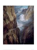 The St Gotthard Pass Giclee Print by J.M.W. Turner