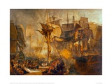 Battle of Trafalgar as Seen from the Victory, 1806 Giclee Print by J.M.W. Turner