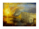 The Burning of the Houses of Parliament (2) 1835 Giclee Print by J.M.W. Turner