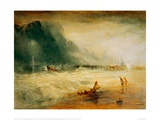 Lifeboat and Manby Apparatus Going to the Aid of a Stranded Vessel Giclee Print by J.M.W. Turner