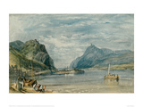 Rolandseck, Nonnenwerth and Dachenfels, 1817 Giclee Print by J.M.W. Turner