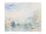 The Lauerzersee with Schwyz and the Mythen Giclee Print by J.M.W. Turner