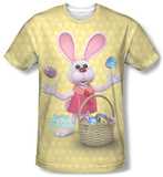 Here Comes Peter Cottontail - Basket Of Eggs T-Shirt