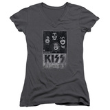 Juniors: KISS - Live V-Neck T-Shirt