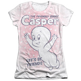 Juniors: Casper - Lets Be Friends T-Shirt