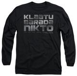 Longsleeve: The Day The Earth Stood Still - Klaatu Barada Nikto T-shirts