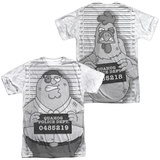 Family Guy - Mug Shot (Front/Back Print) T-shirts