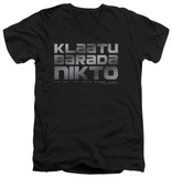 The Day The Earth Stood Still - Klaatu Barada Nikto V-neck Shirts