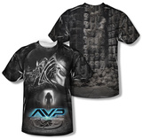 Alien vs Predator - Skulls (Front/Back Print) T-shirts