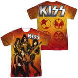 KISS - Fire Pose (Front - Back Print) (Front/Back Print) T-Shirt