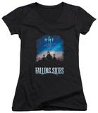Juniors: Falling Skies - Main Players V-Neck T-shirts